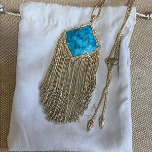 Jewelry - Kendra scott gold and turquoise necklace